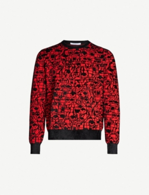 GIVENCHY Geometric-intarsia cotton-blend jumper
