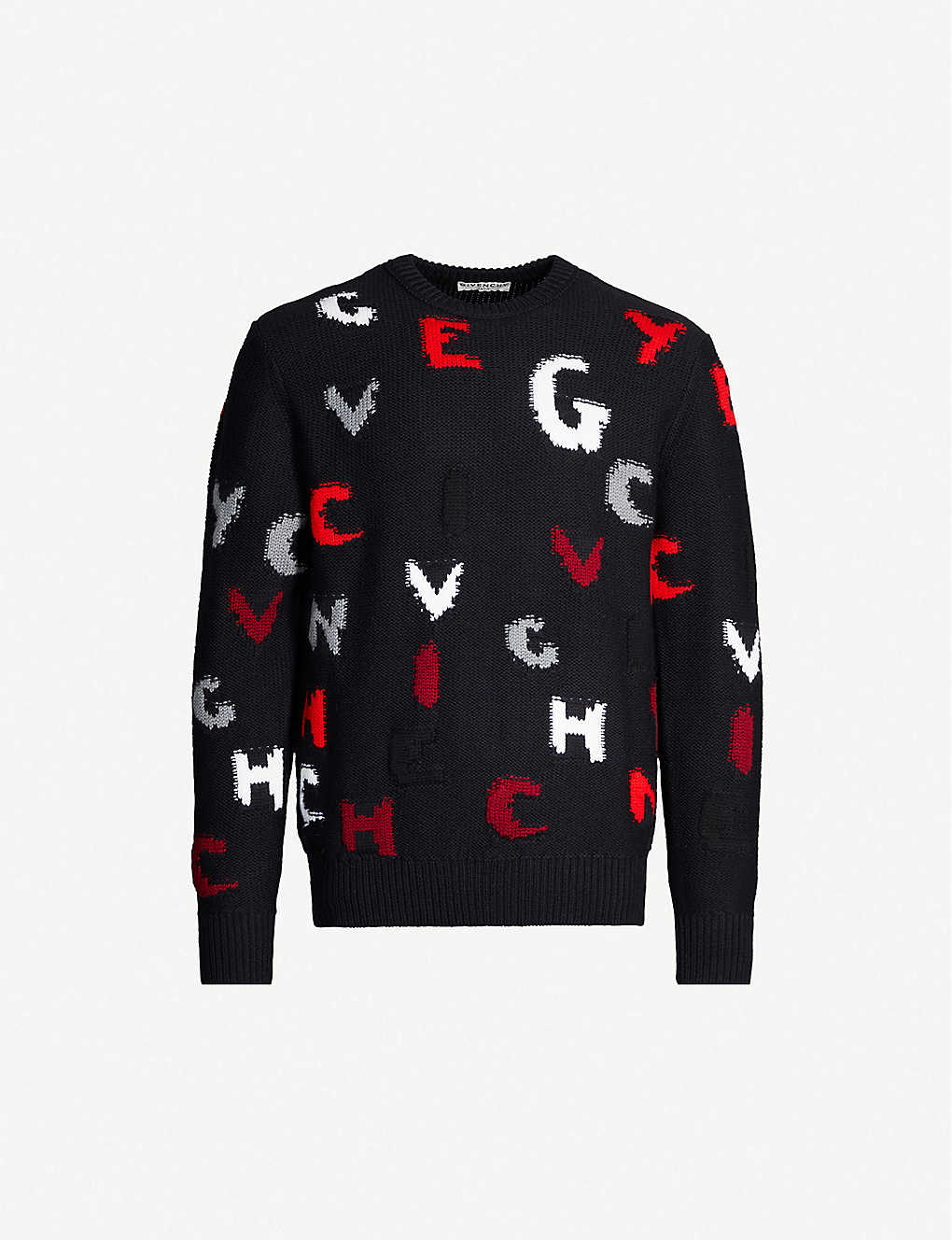 GIVENCHY: Logo-intarsia knitted jumper
