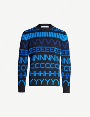 GIVENCHY Logo pattern wool-blend jumper