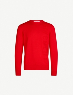 GIVENCHY Logo-embossed cotton-knit jumper