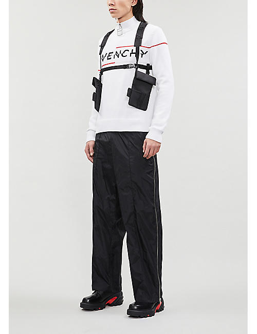 GIVENCHY Speed logo-print cotton-knit jumper