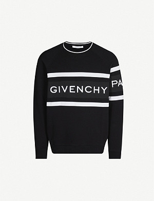 GIVENCHY Logo-embossed cotton-jersey sweatshirt