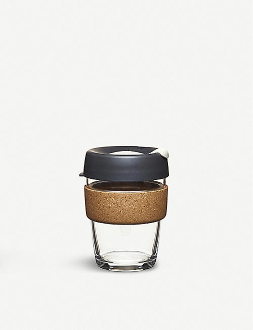 KEEPCUP Cork reusableglass coffee cup medium 340ml