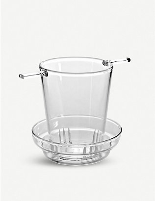 SERAX: Glass tea filter and dripping cup 9.5cm