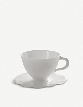 SERAX: Porcelain teacup and saucer