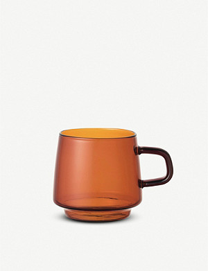 KINTO Sepia glass mug 340ml