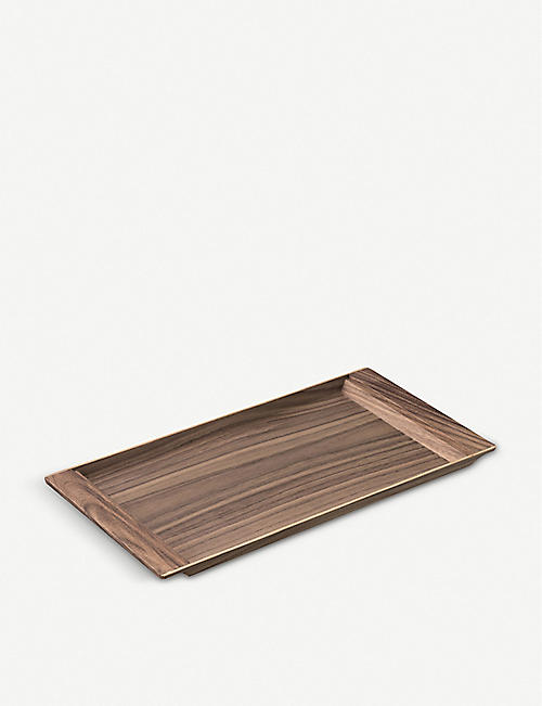 KINTO Sepia large walnut tray 42cm x 21cm
