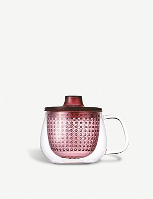 KINTO Unimug glass mug and strainer