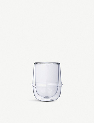 KINTO KRONOS double-walled glass coffee cup