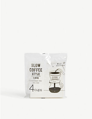 KINTO: Slow Coffee Style 60 cotton paper filter 4 cups