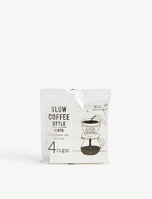 KINTO Slow Coffee Style 60 cotton paper filter 4 cups