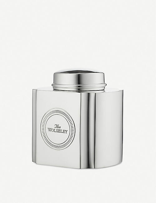 THE WOLSELEY Silver-plated tea caddy