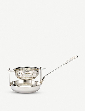THE WOLSELEY Silver-plated tea strainer