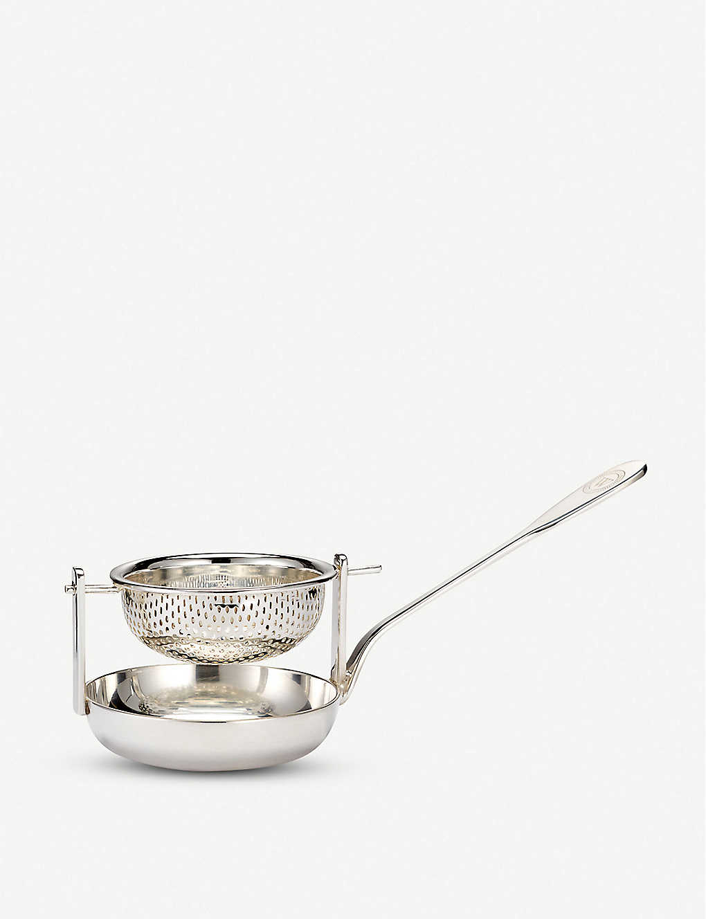 THE WOLSELEY: Silver-plated tea strainer