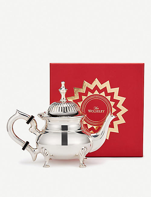 THE WOLSELEY Silver-plated teapot 15cm