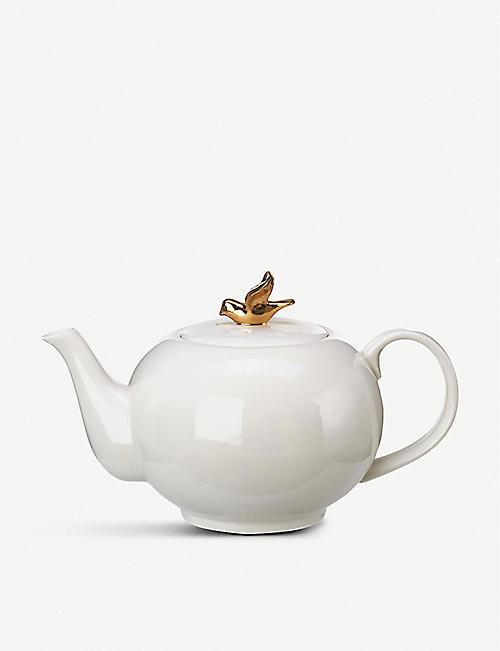 POLS POTTEN Freedom Birds porcelain teapot 1L