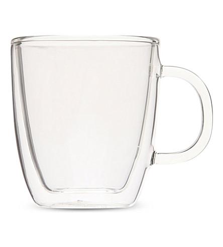 Bodum Bistro Double Wall Glass Espresso Mug Selfridges Com