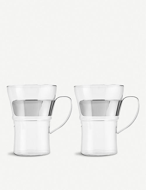 BODUM: Pair of 2 Assam coffee glasses