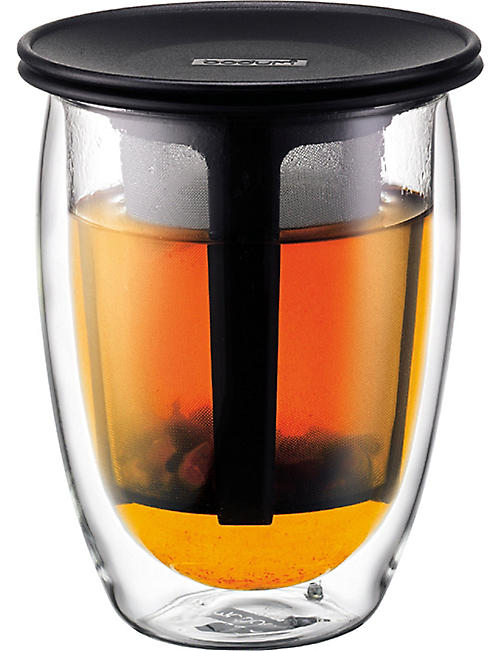 BODUM: Tea for One double wall mug and infuser 350ml