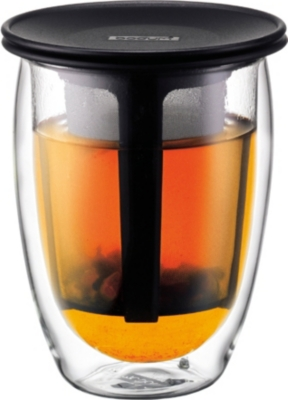 BODUM Tea for One double wall mug and infuser 350ml
