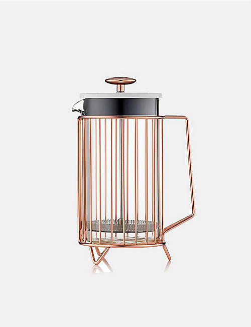 BARISTA & CO Corral 8-cup glass and copper coffee press