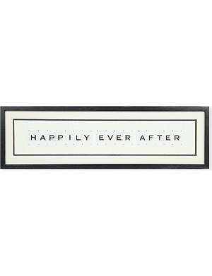 VINTAGE PLAYING CARDS Happily Ever After framed picture 8x30""
