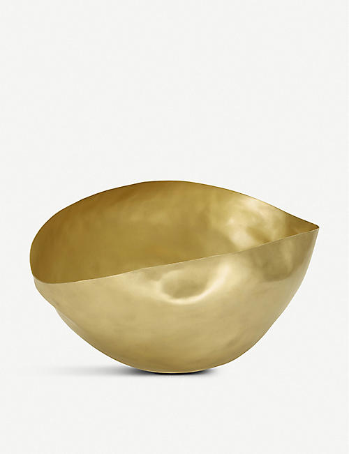 TOM DIXON Bash large brass vessel 45cm