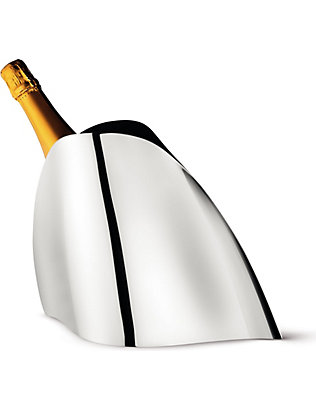 GEORG JENSEN: Stainless steel champagne cooler
