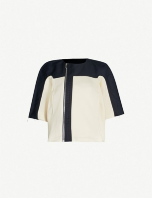 DRKSHDW Limo contrast-panel cotton jacket