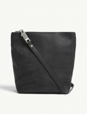 RICK OWENS Worn suede style small shoulder bag