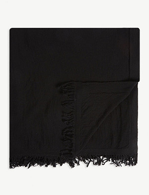 RICK OWENS Wool oversized scarf