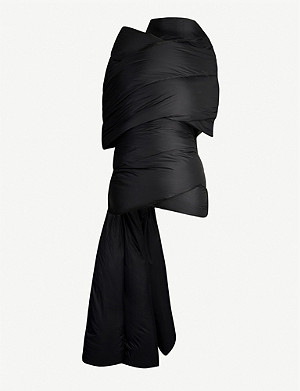 RICK OWENS Quilted shell-down scarf
