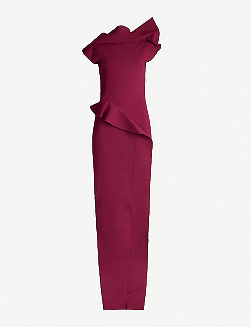 RICK OWENS Structured stretch-ponté gown