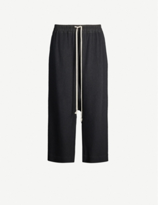 RICK OWENS Dropped-crotch woven trousers