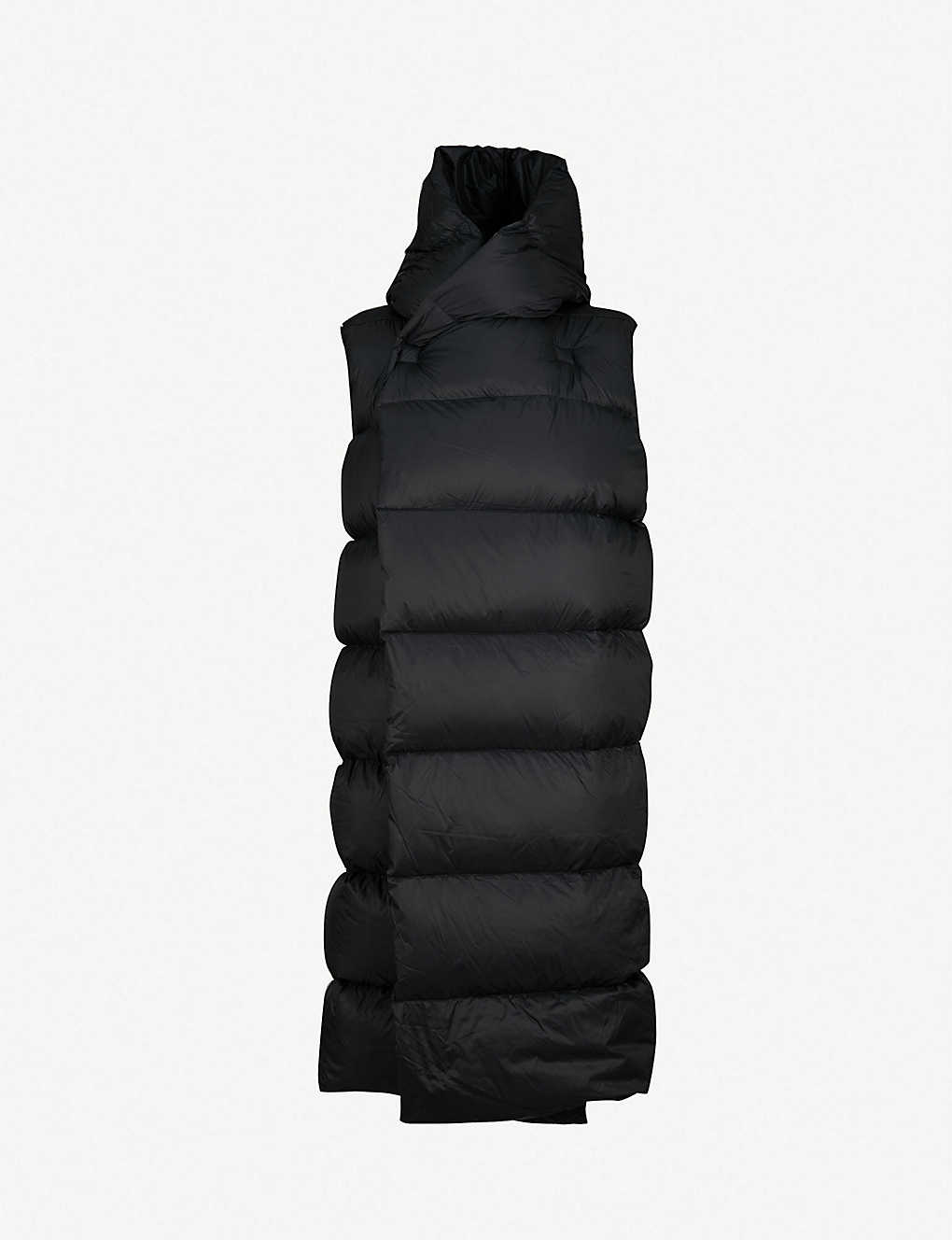 97e73a8d3 RICK OWENS - Longline sleeveless shell puffer jacket