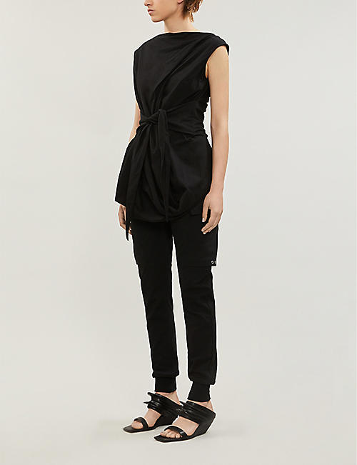 RICK OWENS Ellipse asymmetric cotton top