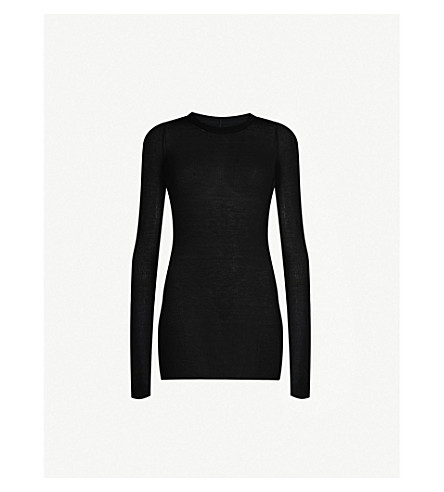 Rick Owens Tops LONGLINE STRETCH-JERSEY TOP