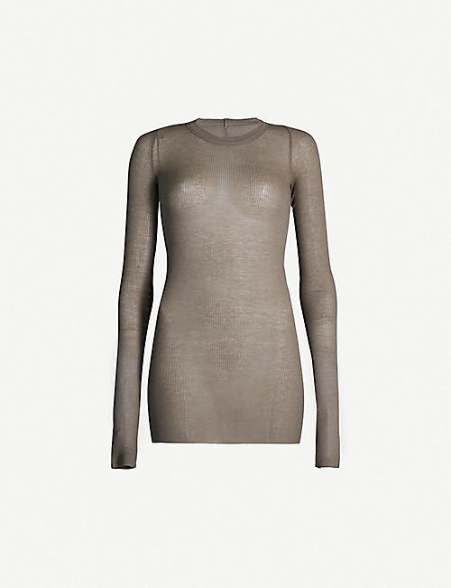 RICK OWENS Longline stretch-jersey top