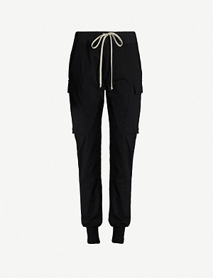 RICK OWENS Cargo patch-pocket cotton jogging bottoms