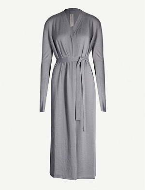 RICK OWENS Cashmere-knit robe
