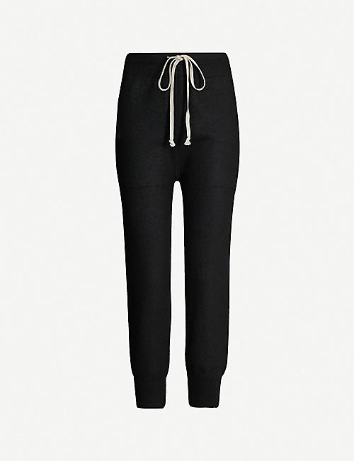 2292051f1 RICK OWENS Dropped-crotch cashmere jogging bottoms