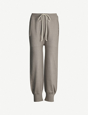 RICK OWENS Dropped-crotch cashmere jogging bottoms