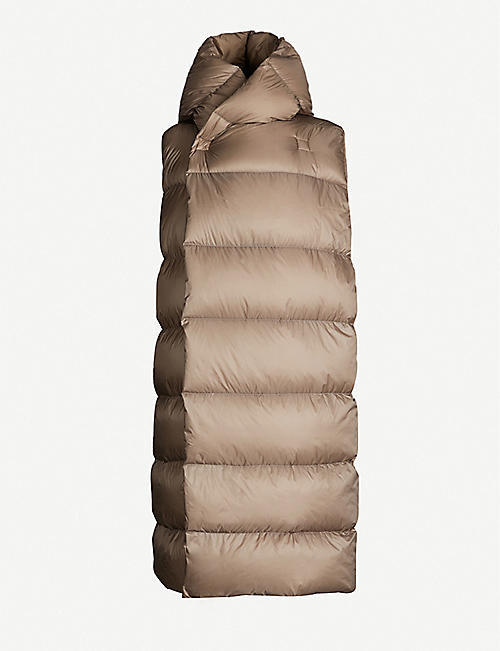 RICK OWENS Quilted satin gilet