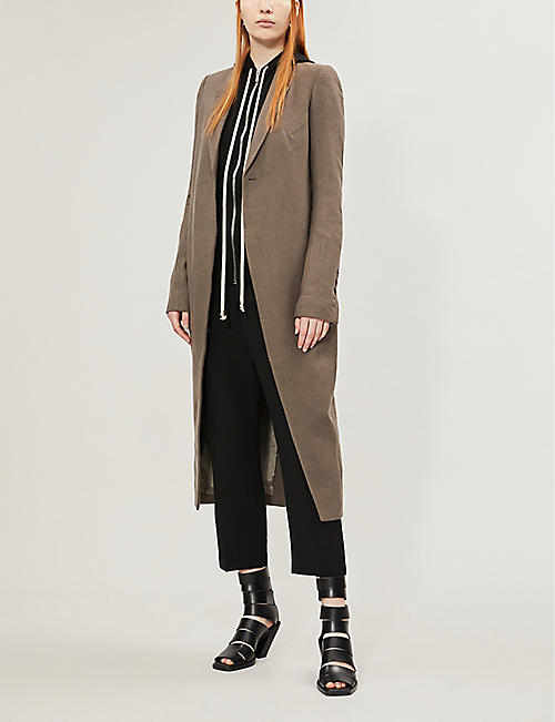 RICK OWENS Cyclops padded-shoulders wool coat
