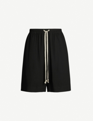 RICK OWENS Relaxed-fit silk-crepe shorts
