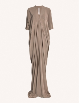 RICK OWENS Kite draped silk gown