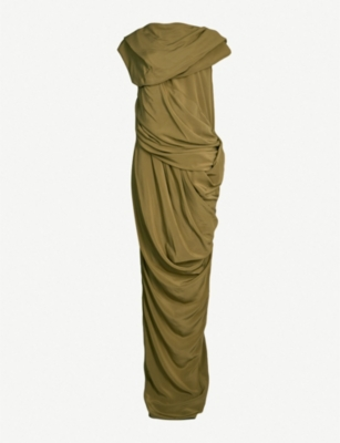 RICK OWENS Branch draped silk gown