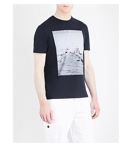 Armani Jeans  Photo-print cotton-jersey T-shirt