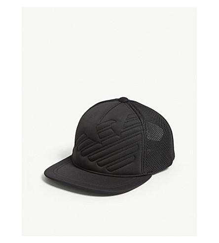 500e8d7b657 EMPORIO ARMANI QUILTED EAGLE SNAPBACK CAP