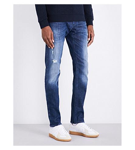 Armani Jeans  J06 slim-fit tapered mid-rise jeans